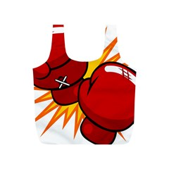Boxing Gloves Red Orange Sport Full Print Recycle Bags (s)  by Alisyart