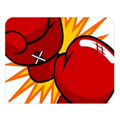 Boxing Gloves Red Orange Sport Double Sided Flano Blanket (large)  by Alisyart