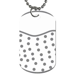 Cool Gel Foam Circle Grey Dog Tag (one Side) by Alisyart