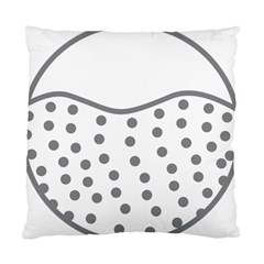 Cool Gel Foam Circle Grey Standard Cushion Case (one Side) by Alisyart