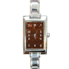 Brown Sequins Background Rectangle Italian Charm Watch by Simbadda