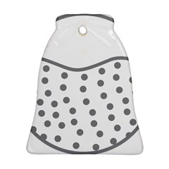 Cool Gel Foam Circle Grey Ornament (bell) by Alisyart
