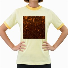 Brown Sequins Background Women s Fitted Ringer T-Shirts by Simbadda
