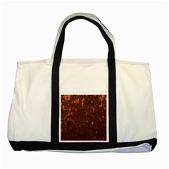 Brown Sequins Background Two Tone Tote Bag by Simbadda