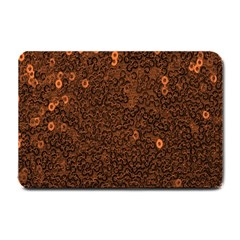 Brown Sequins Background Small Doormat  by Simbadda