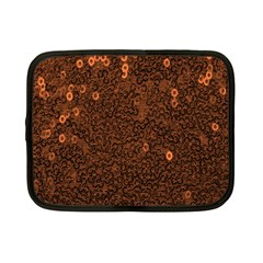 Brown Sequins Background Netbook Case (small)  by Simbadda