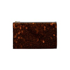 Brown Sequins Background Cosmetic Bag (small)  by Simbadda