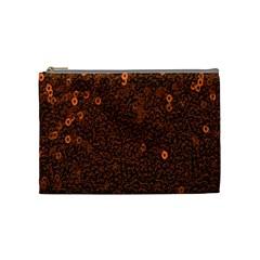 Brown Sequins Background Cosmetic Bag (medium)