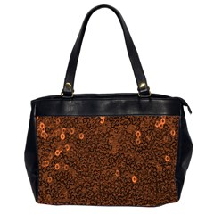 Brown Sequins Background Office Handbags (2 Sides)  by Simbadda