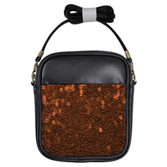 Brown Sequins Background Girls Sling Bags by Simbadda
