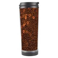 Brown Sequins Background Travel Tumbler by Simbadda