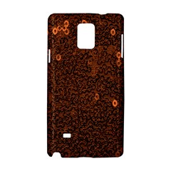 Brown Sequins Background Samsung Galaxy Note 4 Hardshell Case by Simbadda