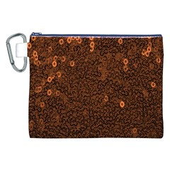 Brown Sequins Background Canvas Cosmetic Bag (xxl) by Simbadda