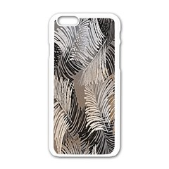 Floral Pattern Background Apple Iphone 6/6s White Enamel Case by Simbadda