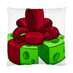 Cheese Green Standard Cushion Case (one Side) by Alisyart