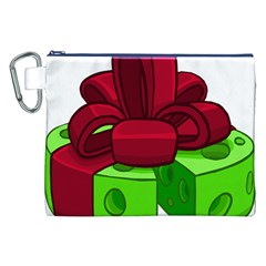 Cheese Green Canvas Cosmetic Bag (xxl) by Alisyart