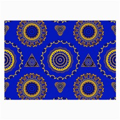 Abstract Mandala Seamless Pattern Large Glasses Cloth by Simbadda