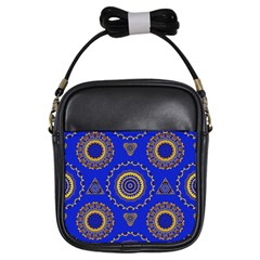 Abstract Mandala Seamless Pattern Girls Sling Bags by Simbadda