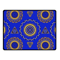 Abstract Mandala Seamless Pattern Fleece Blanket (small) by Simbadda