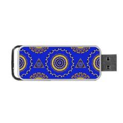 Abstract Mandala Seamless Pattern Portable Usb Flash (two Sides) by Simbadda