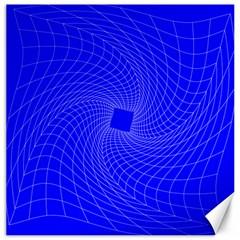 Blue Perspective Grid Distorted Line Plaid Canvas 20  X 20   by Alisyart