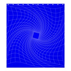 Blue Perspective Grid Distorted Line Plaid Shower Curtain 66  X 72  (large)  by Alisyart