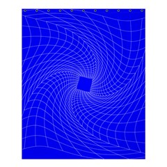 Blue Perspective Grid Distorted Line Plaid Shower Curtain 60  X 72  (medium)  by Alisyart