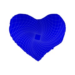 Blue Perspective Grid Distorted Line Plaid Standard 16  Premium Heart Shape Cushions by Alisyart