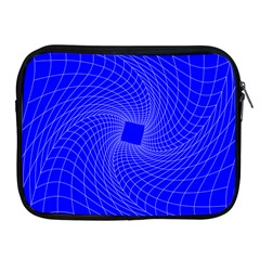 Blue Perspective Grid Distorted Line Plaid Apple Ipad 2/3/4 Zipper Cases by Alisyart