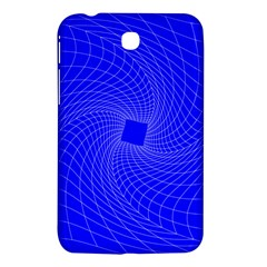 Blue Perspective Grid Distorted Line Plaid Samsung Galaxy Tab 3 (7 ) P3200 Hardshell Case  by Alisyart