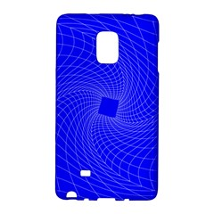 Blue Perspective Grid Distorted Line Plaid Galaxy Note Edge by Alisyart