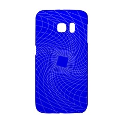 Blue Perspective Grid Distorted Line Plaid Galaxy S6 Edge by Alisyart