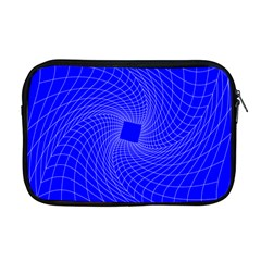Blue Perspective Grid Distorted Line Plaid Apple Macbook Pro 17  Zipper Case by Alisyart