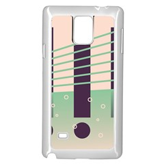 Day Sea River Bridge Line Water Samsung Galaxy Note 4 Case (white) by Alisyart