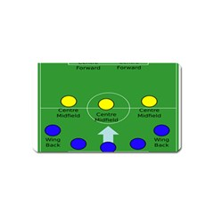 Field Football Positions Magnet (name Card) by Alisyart