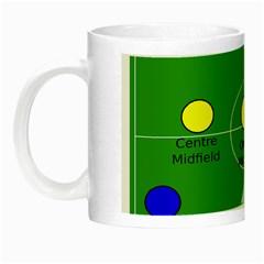 Field Football Positions Night Luminous Mugs by Alisyart