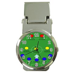 Field Football Positions Money Clip Watches by Alisyart