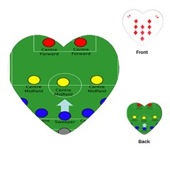Field Football Positions Playing Cards (heart)  by Alisyart