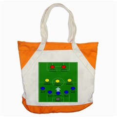 Field Football Positions Accent Tote Bag by Alisyart