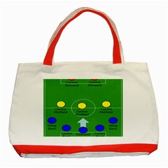 Field Football Positions Classic Tote Bag (red) by Alisyart