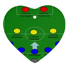 Field Football Positions Heart Ornament (two Sides) by Alisyart