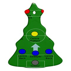 Field Football Positions Christmas Tree Ornament (two Sides) by Alisyart