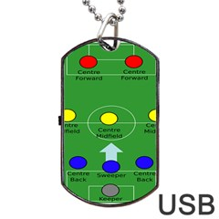 Field Football Positions Dog Tag Usb Flash (two Sides) by Alisyart