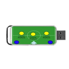 Field Football Positions Portable Usb Flash (two Sides) by Alisyart