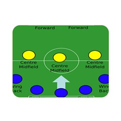 Field Football Positions Double Sided Flano Blanket (mini)  by Alisyart