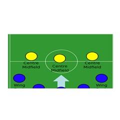Field Football Positions Satin Wrap by Alisyart