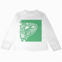 Fish Star Green Kids Long Sleeve T Shirts by Alisyart