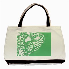 Fish Star Green Basic Tote Bag by Alisyart