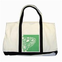 Fish Star Green Two Tone Tote Bag by Alisyart