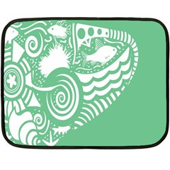 Fish Star Green Fleece Blanket (mini) by Alisyart